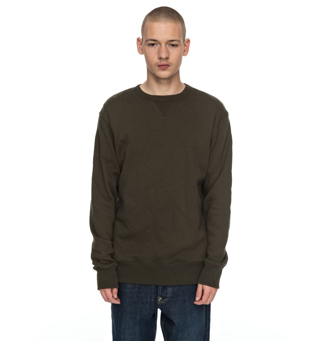0 Eberly - Doorgestikt Sweatshirt Brown EDYFT03311 DC Shoes