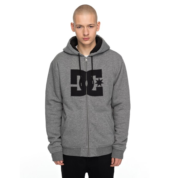0 Star Sherpa Zipper Up Hoodie  EDYFT03320 DC Shoes