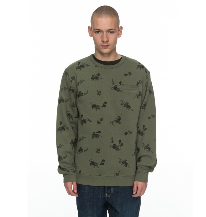 0 Men's Ranstead Sweatshirt Green EDYFT03321 DC Shoes