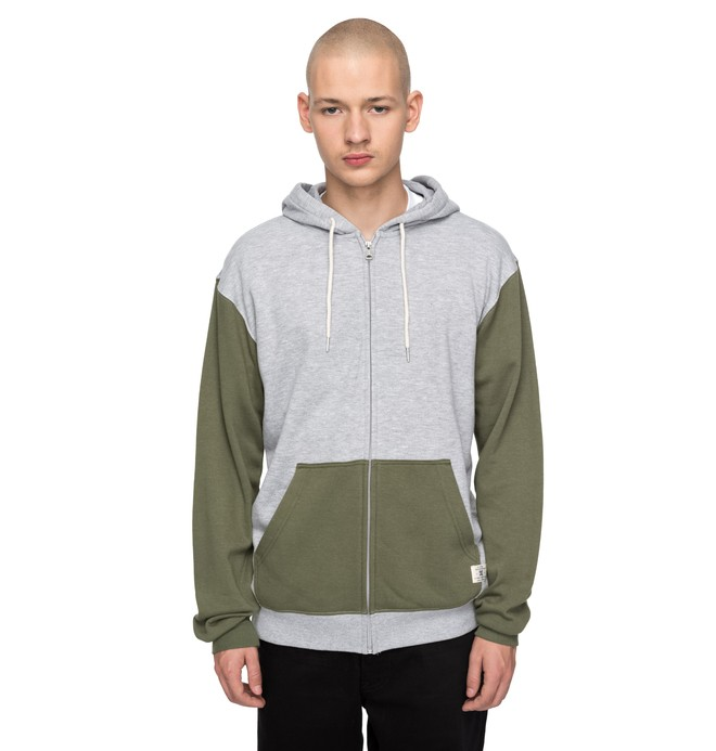 0 Rebel Contrast Zipped Hoodie  EDYFT03341 DC Shoes