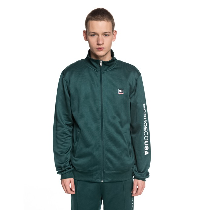 0 Men's Heggerty Track Tracksuit Jacket Green EDYFT03353 DC Shoes