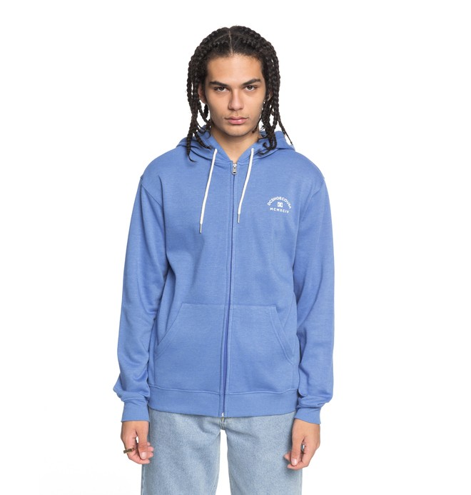 0 Rebel - Sweat à capuche zippé Bleu EDYFT03369 DC Shoes