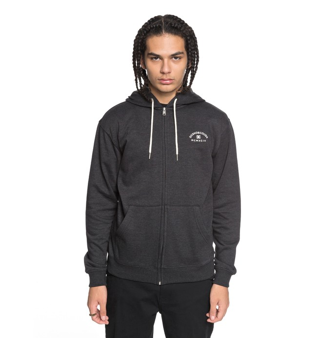 0 Rebel - Zip-Up Hoodie for Men Black EDYFT03369 DC Shoes