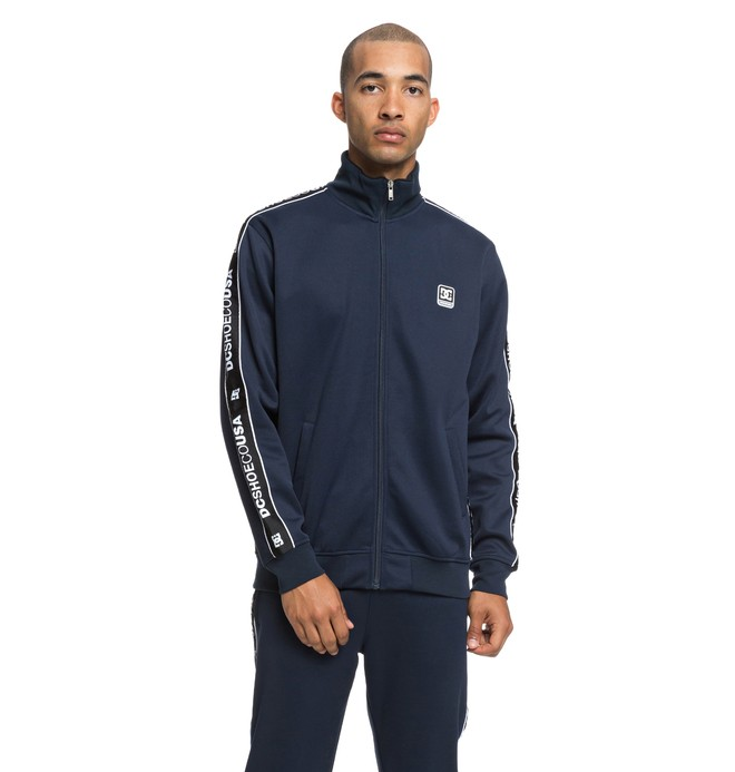 0 Men's Bellingham Zip-Up Track Jacket Blue EDYFT03383 DC Shoes