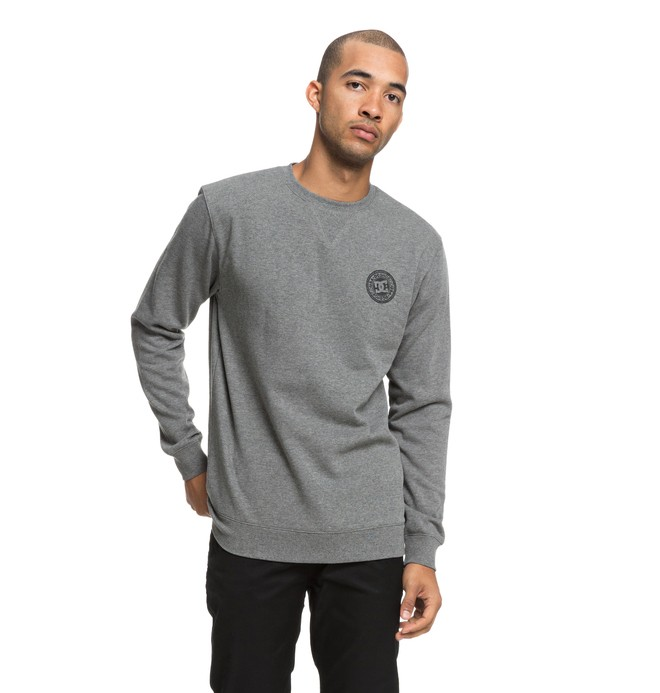 0 Men's Rebel Sweatshirt Black EDYFT03392 DC Shoes