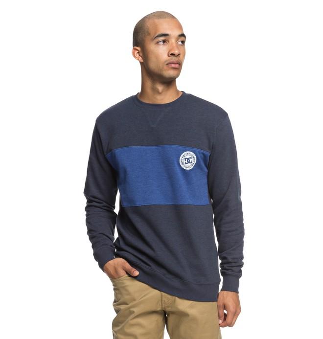 0 Men's Rebel Block Sweatshirt  EDYFT03393 DC Shoes