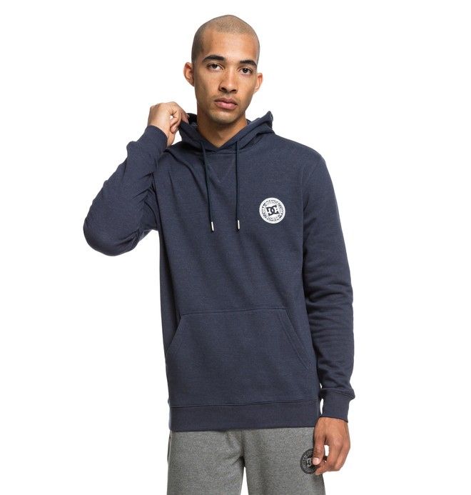 0 Men's Rebel Hoodie Blue EDYFT03394 DC Shoes