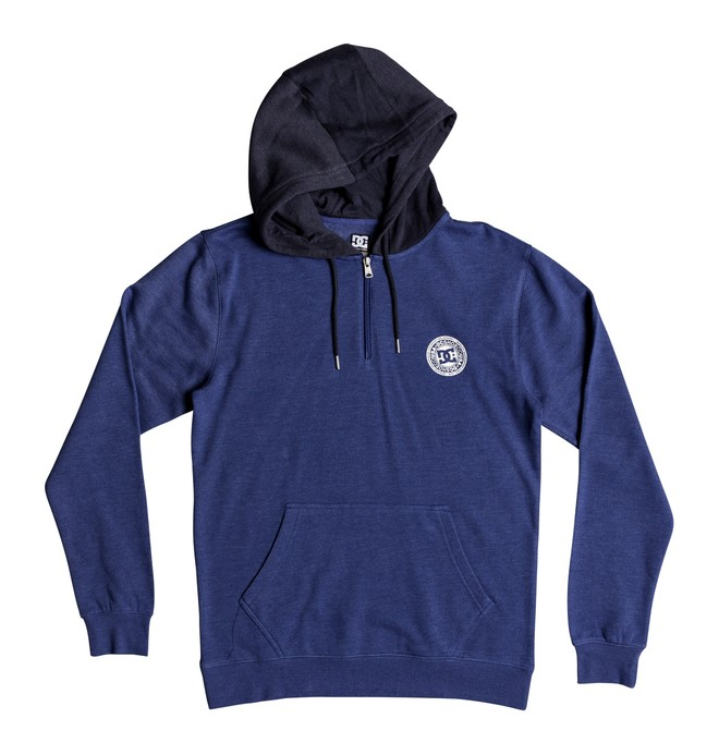 0 Men's Rebel Half Zip Hoodie Blue EDYFT03395 DC Shoes