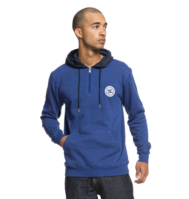 0 Sudadera con Capucha y Media Cremallera Rebel Azul EDYFT03395 DC Shoes