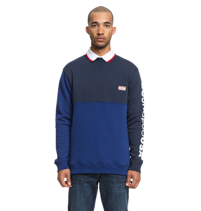 0 Men's Clewiston Sweatshirt Blue EDYFT03404 DC Shoes