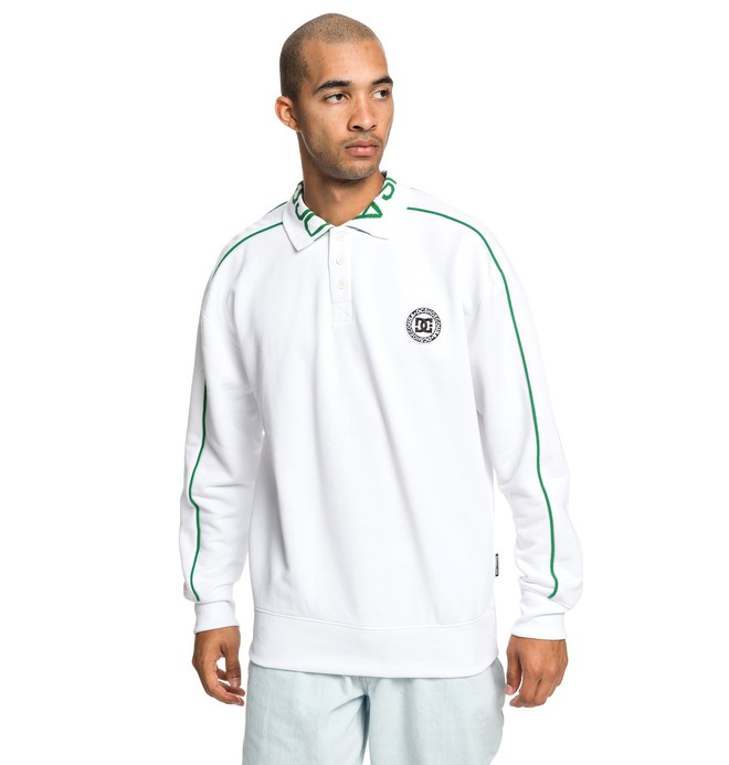 0 Springhill - Polo Sweatshirt for Men White EDYFT03420 DC Shoes