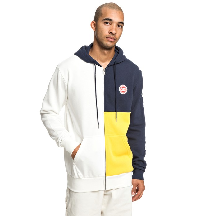 0 Hambledon - Zip-Up Hoodie for Men White EDYFT03422 DC Shoes