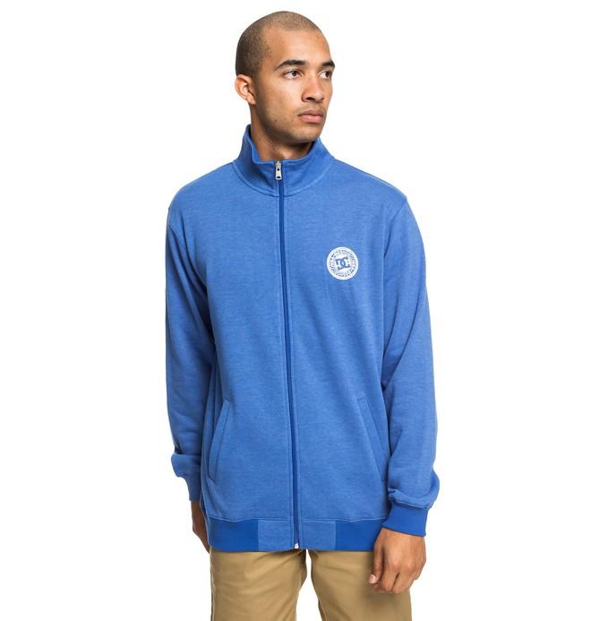 0 Rebel - Zip-Up Mock Neck Sweatshirt for Men Blue EDYFT03426 DC Shoes