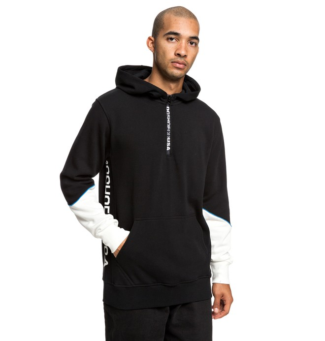 0 Glynroad - Half-Zip Hoodie for Men Black EDYFT03430 DC Shoes