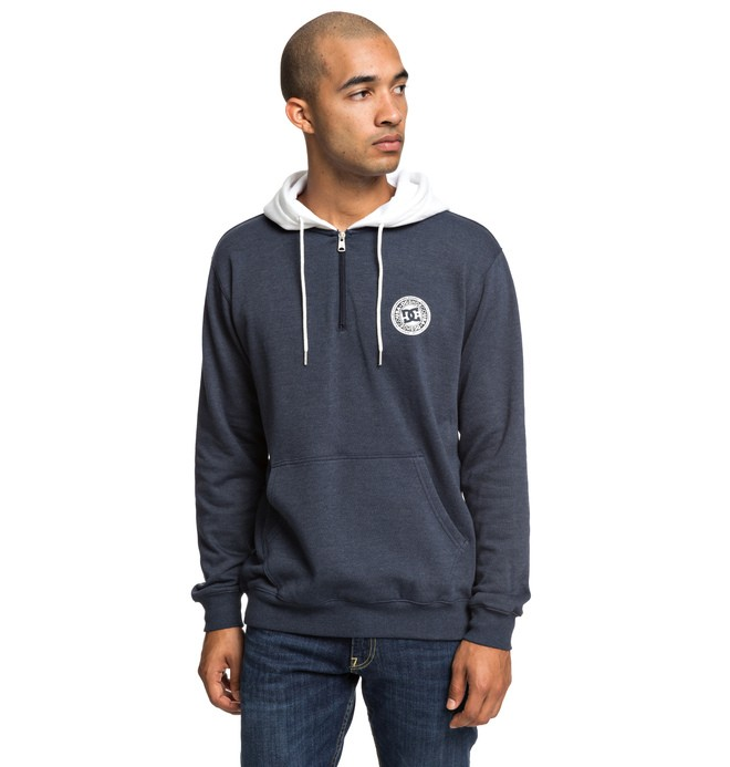 0 Rebel - Half-Zip Hoodie for Men Blue EDYFT03433 DC Shoes