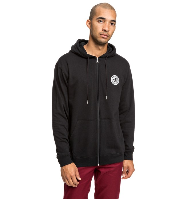 0 Rebel - Zip-Up Hoodie for Men Black EDYFT03434 DC Shoes