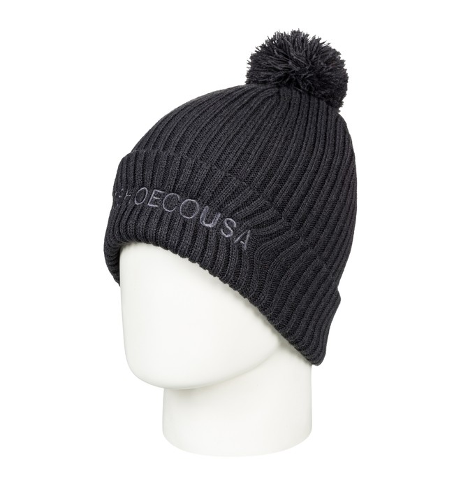 0 Trilogy 2 Pom-Pom Beanie Black EDYHA03078 DC Shoes