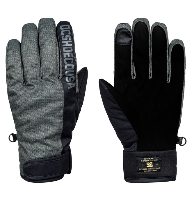 0 Men's Deadeye Snow Gloves Black EDYHN03027 DC Shoes