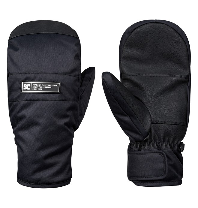 0 Franchise Snowboard/Ski Mittens Black EDYHN03035 DC Shoes