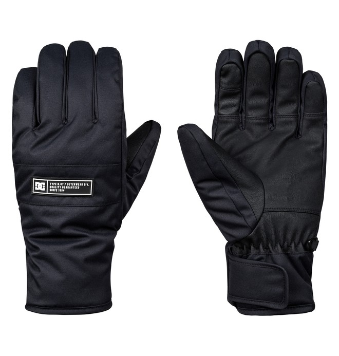 0 Franchise Snowboard/Ski Gloves Black EDYHN03036 DC Shoes