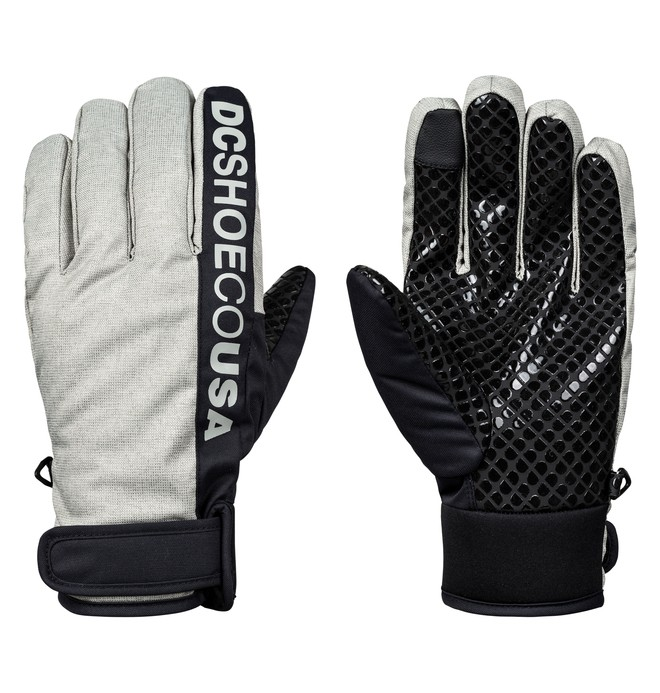 0 Deadeye Snowboard/Ski Gloves Grey EDYHN03037 DC Shoes