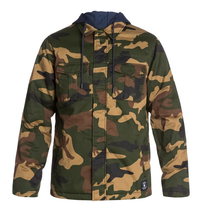 0 Men's The Hood Camo Jacket  EDYJK03013 DC Shoes