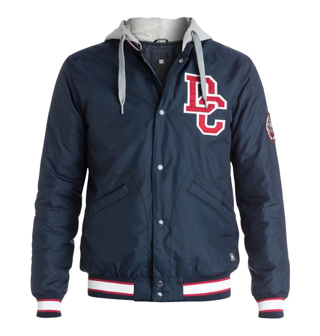 0 Men's Colwood Varsity Jacket  EDYJK03038 DC Shoes