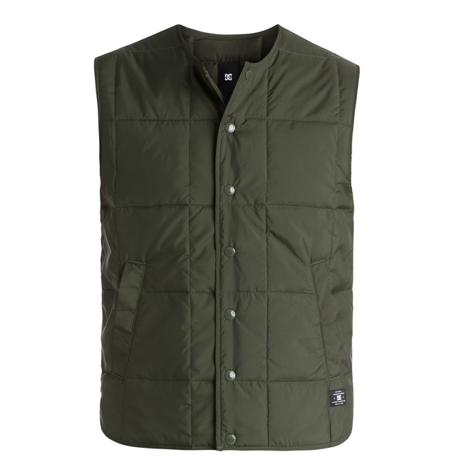 0 Men's Fawdon Quilted Vest  EDYJK03073 DC Shoes