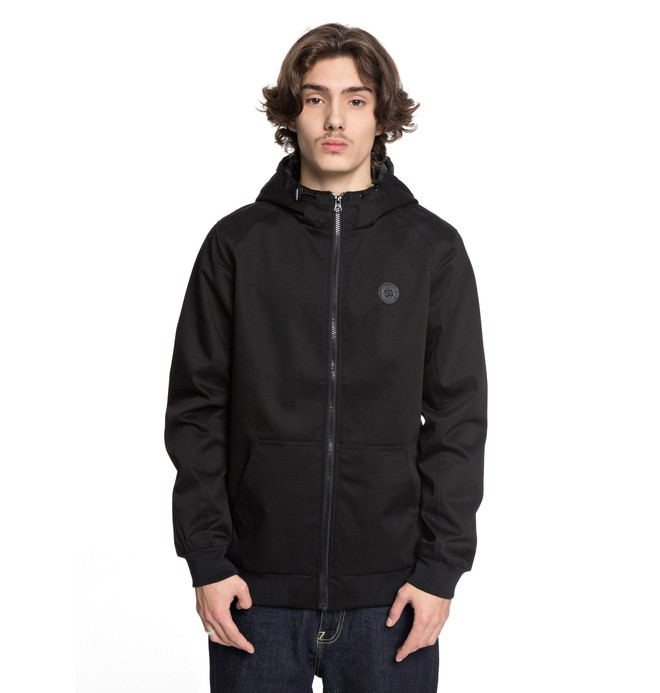 0 Men's Ellis Light 3 Water Resistant Hooded Jacket Black EDYJK03142 DC Shoes