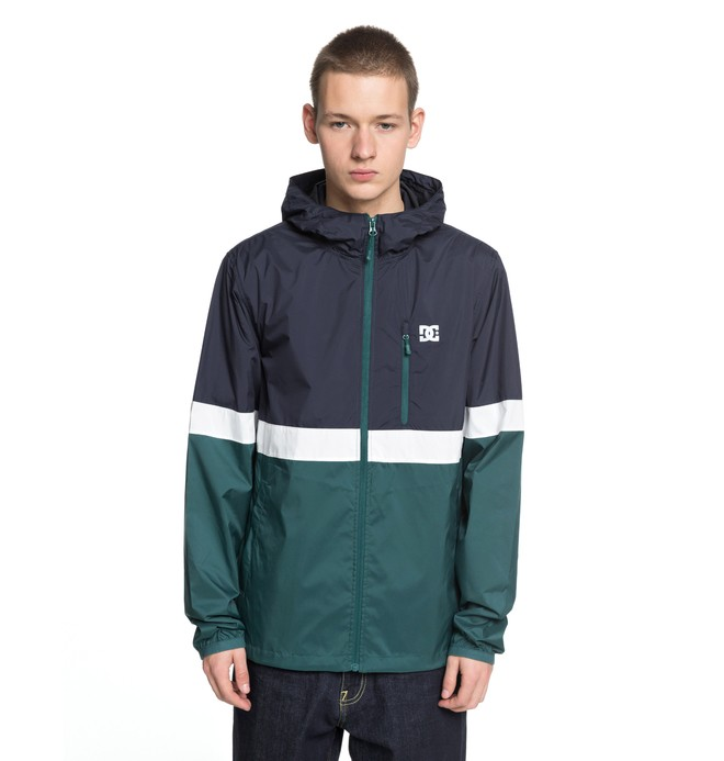 0 Men's Dagup Triple Block Windbreaker Green EDYJK03144 DC Shoes