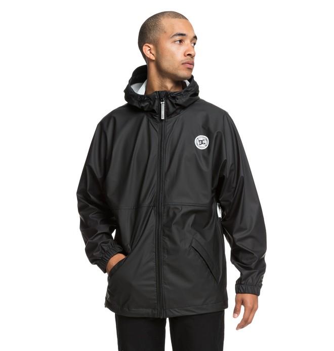 0 Doxford Water Resistant Packable Rain Jacket Black EDYJK03174 DC Shoes