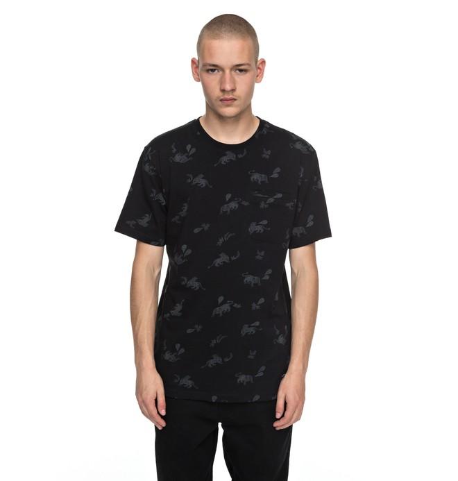 0 Pilkington - T Shirt Noir EDYKT03358 DC Shoes