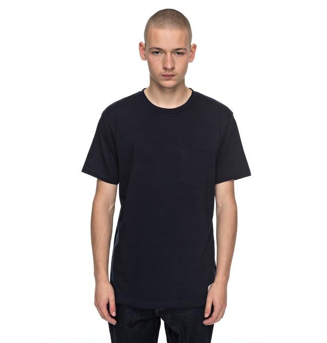0 Basic - T shirt avec poche Bleu EDYKT03360 DC Shoes