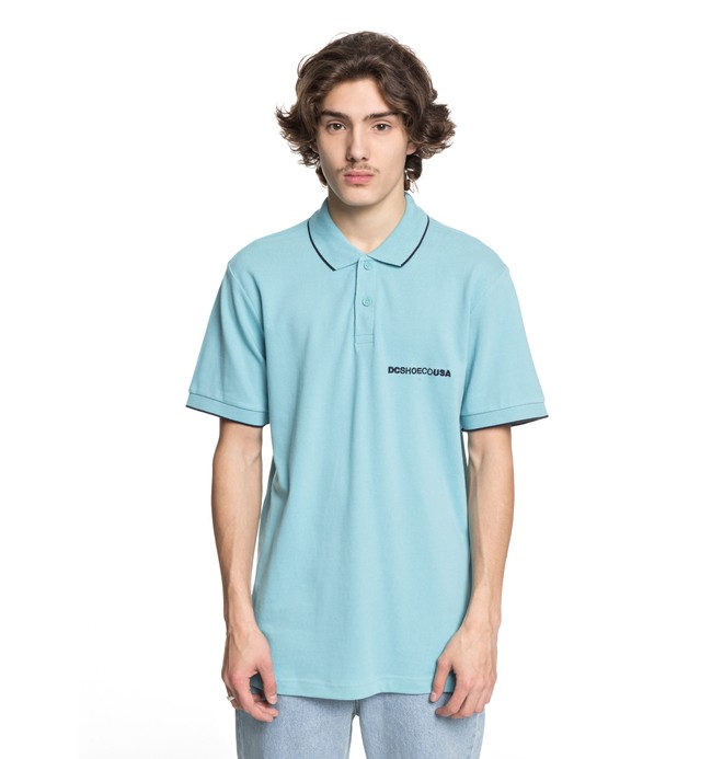 0 Lakebay - Poloshirt Blue EDYKT03374 DC Shoes
