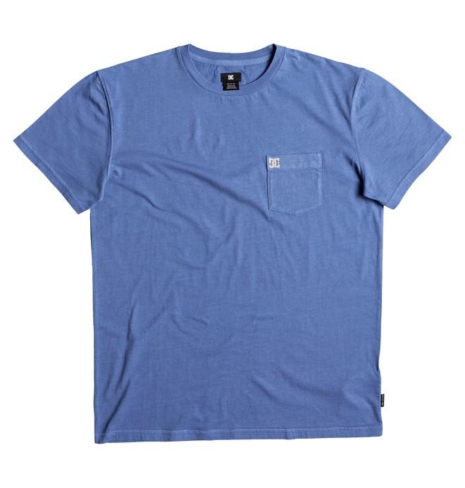 0 Men's Dyed Tee Blue EDYKT03375 DC Shoes