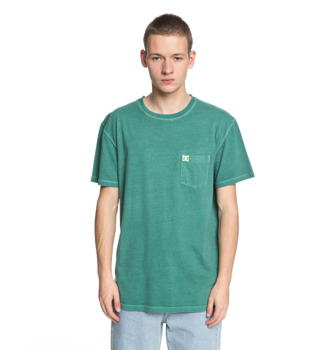 0 Dyed Tee Green EDYKT03375 DC Shoes