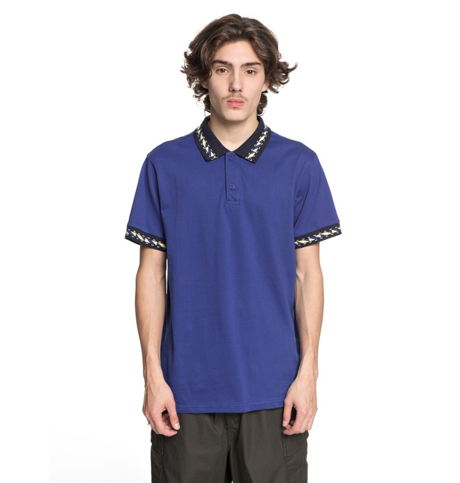 0 Men's Dunbar Polo Shirt Blue EDYKT03380 DC Shoes