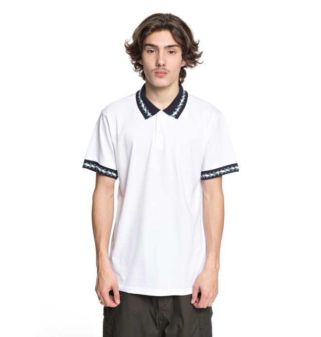 0 Dunbar Polo Shirt White EDYKT03380 DC Shoes