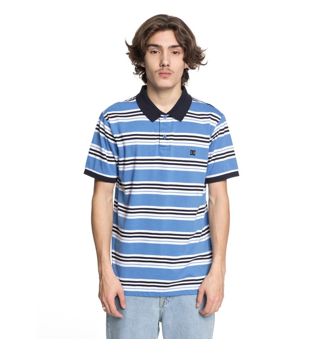 0 Men's Buchanan Polo Shirt Blue EDYKT03383 DC Shoes