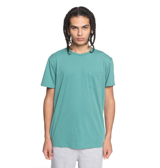 0 Men's Basic Pocket Tee Green EDYKT03394 DC Shoes