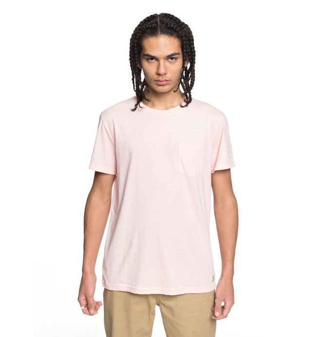 0 Men's Basic Pocket Tee Pink EDYKT03394 DC Shoes