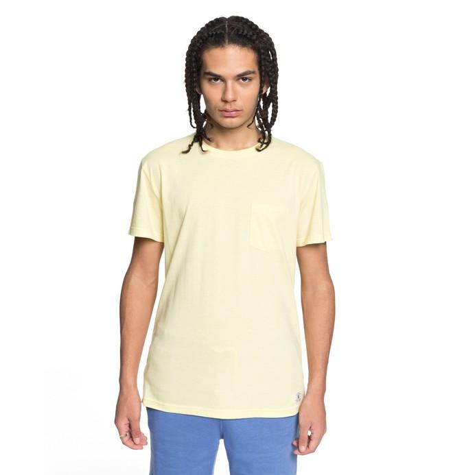 0 Men's Basic Pocket Tee Yellow EDYKT03394 DC Shoes