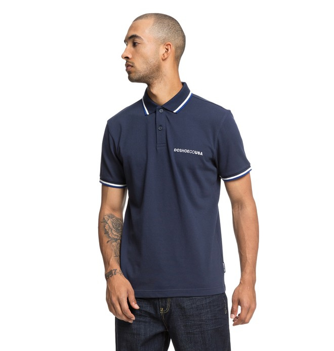 0 Lakebay Short Sleeve Polo Shirt Blue EDYKT03411 DC Shoes