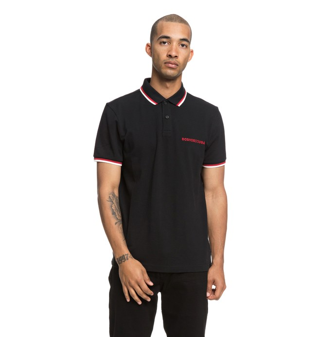 0 Lakebay Short Sleeve Polo Shirt Black EDYKT03411 DC Shoes