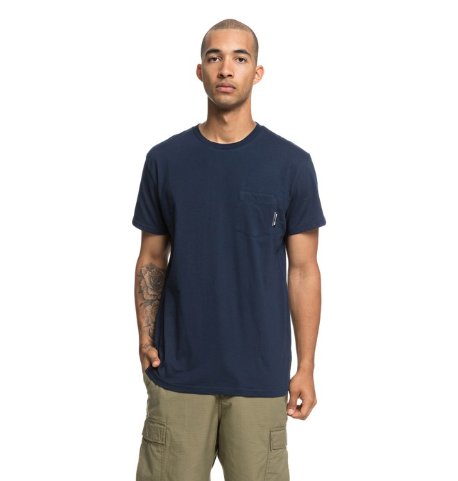 0 Basic Pocket Tee Blue EDYKT03415 DC Shoes