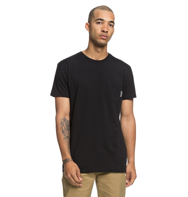 0 Basic Pocket Tee Black EDYKT03415 DC Shoes