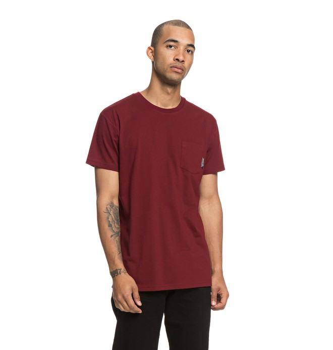 0 Basic Pocket Tee Red EDYKT03415 DC Shoes