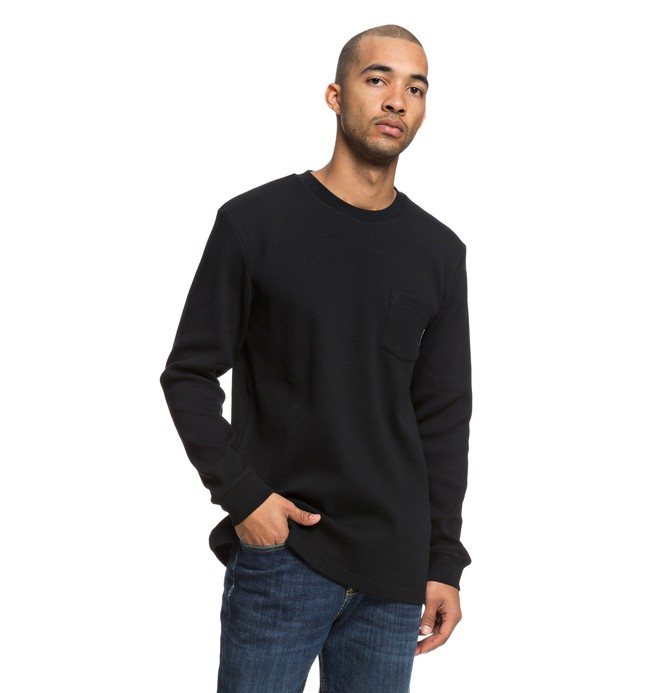 0 Men's Fraserview Long Sleeve Tee Black EDYKT03417 DC Shoes