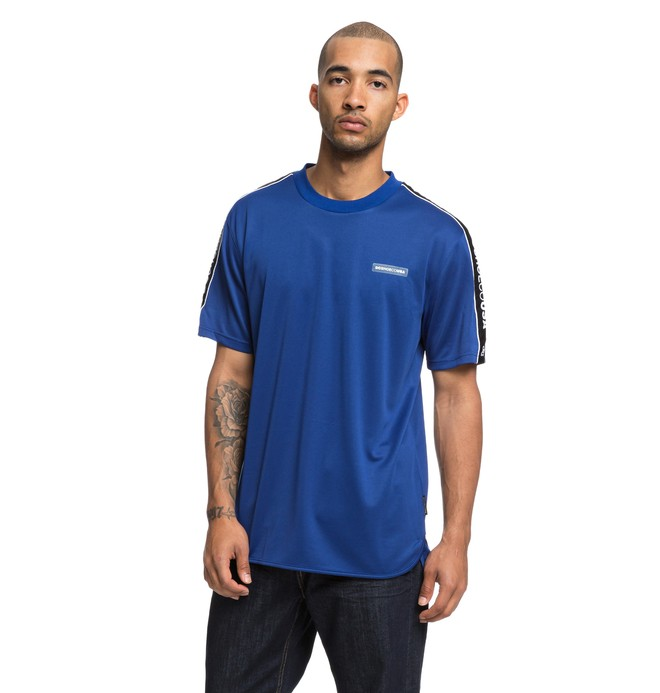 0 Thomhill Short Sleeve Soccer Tee Blue EDYKT03423 DC Shoes