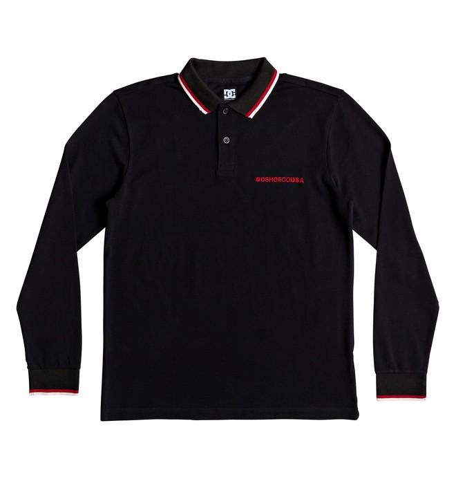 0 Men's Lakebay Long Sleeve Polo Shirt Black EDYKT03428 DC Shoes